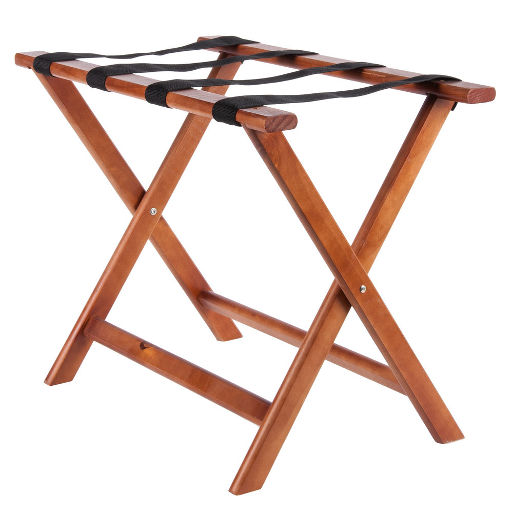 Lancaster table seating wood folding luggage rack for Table seating for 20