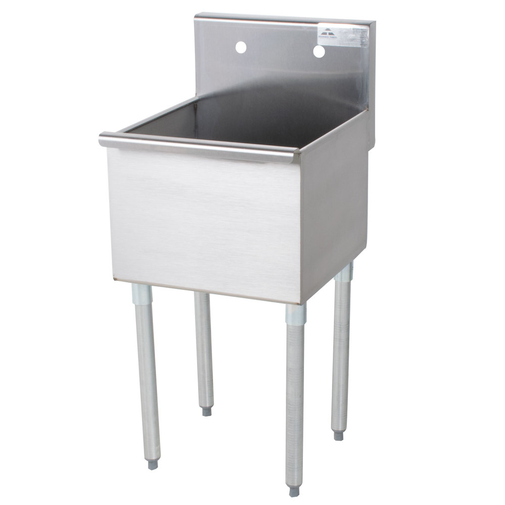 Stainless Industrial Sink : ... Tabco 4-81-18 One Compartment Stainless Steel Commercial Sink - 18