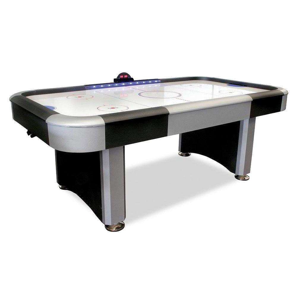 7 39 Flash Interactive Lighted Rail Air Hockey Table