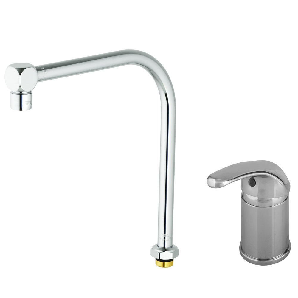T S B 2746 Side Mount Faucet With Remote On Off Control Base 8 13 16 Swing Nozzle And