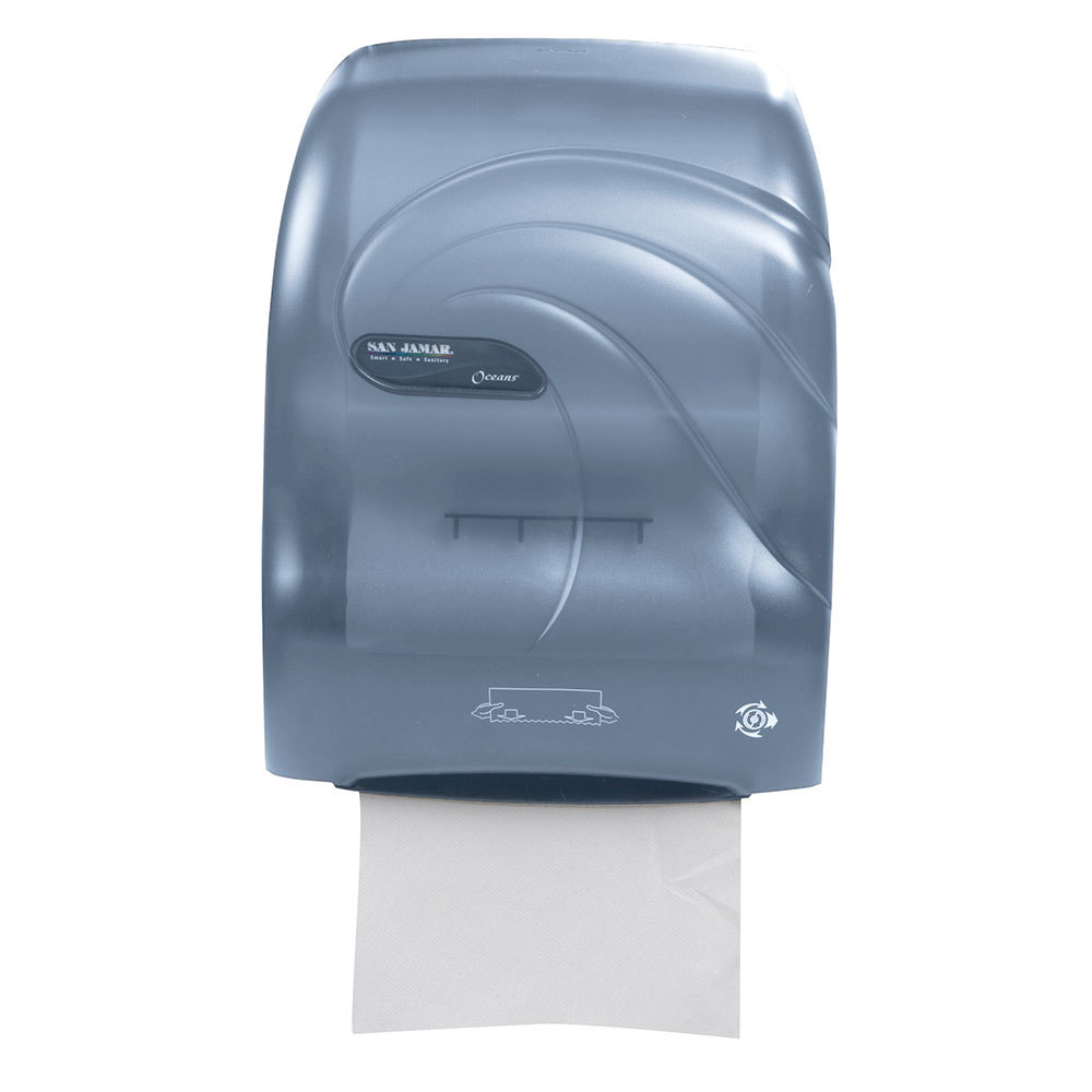 San Jamar T7090TBL Simplicity Oceans Hands Free Paper Towel Dispenser Arcti
