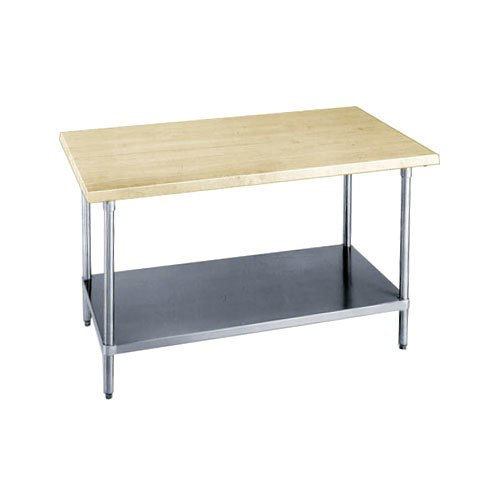 Advance Tabco H2s 246 Wood Top Work Table With Stainless