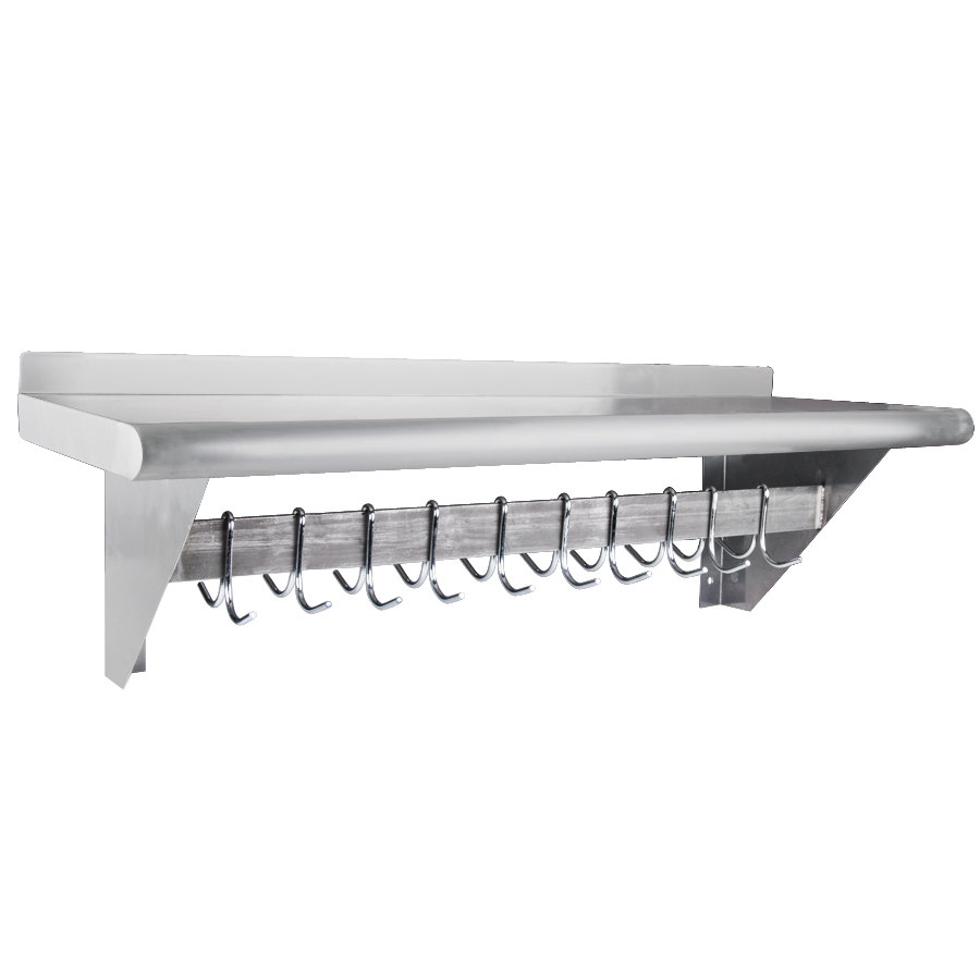 Regency 12 X 36 Stainless Steel Wall Mounted Pot Rack