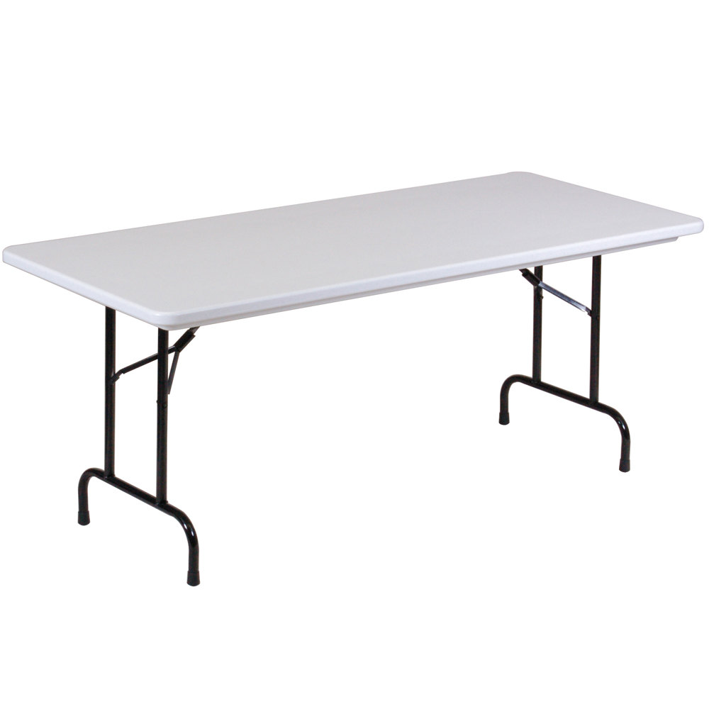 "Plastic Tables: Correll Folding Table, 30"" X 96"" Tamper-Resistant Plastic"