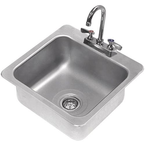 ... Tabco DI-1-168 Drop In Stainless Steel Sink - 16