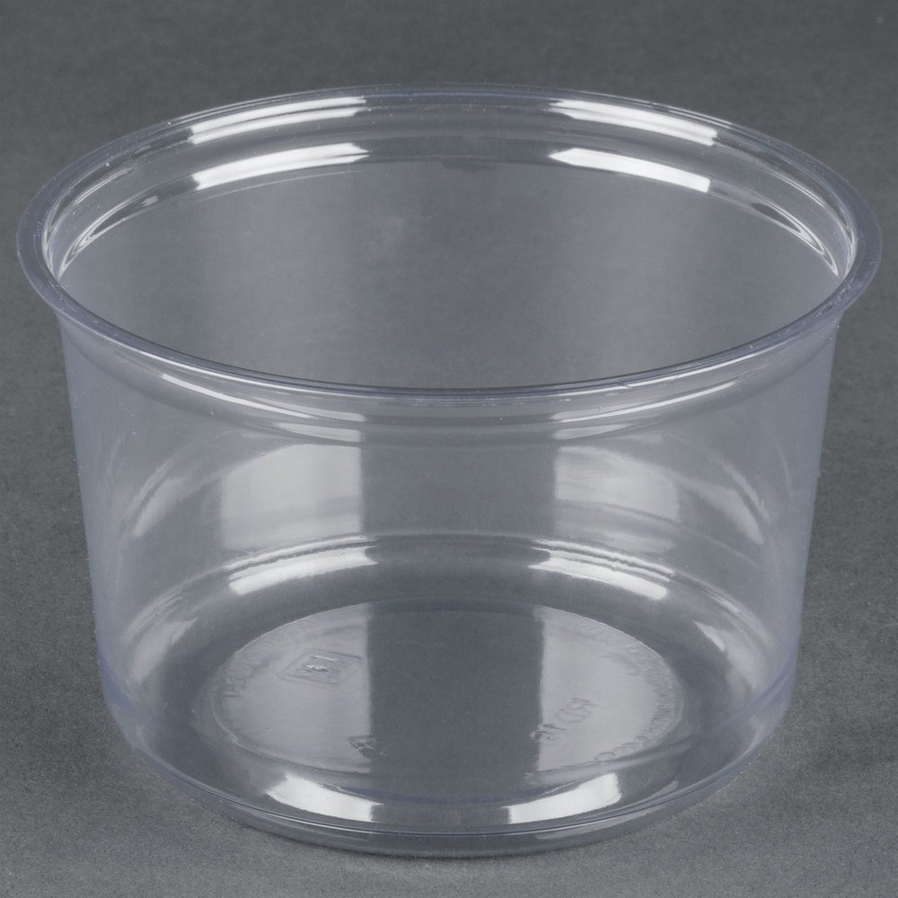 Fabri kal alur rd16 16 oz recycled customizable clear pet for Recycled plastic containers