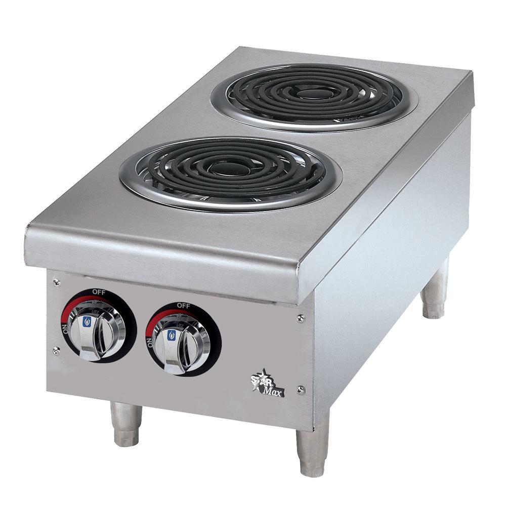 Countertop Electric Stove : Star Max 502CF 2 Burner Countertop Range with Coil Burners