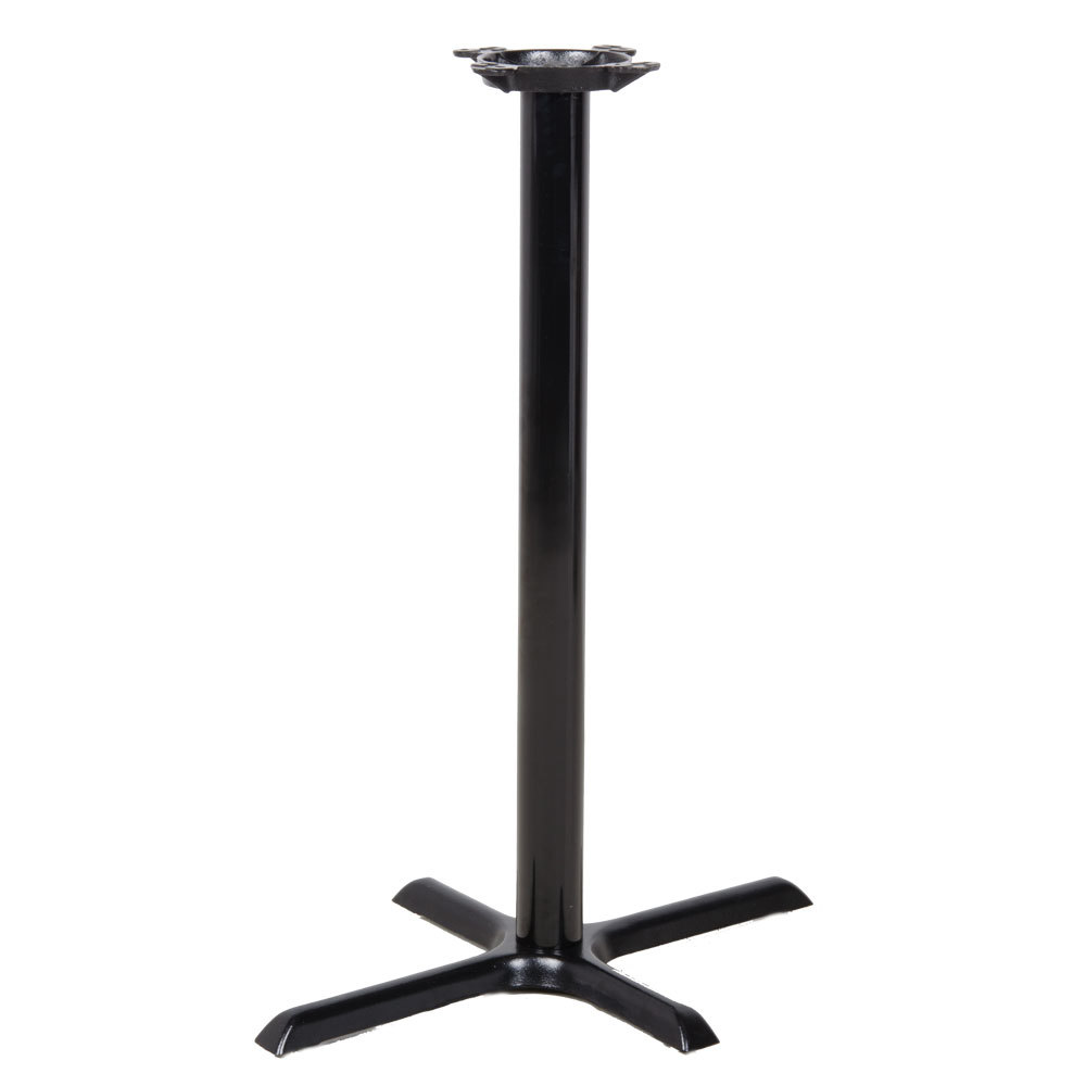 Lancaster table seating 22 x 30 x 41 black metal Metal table base