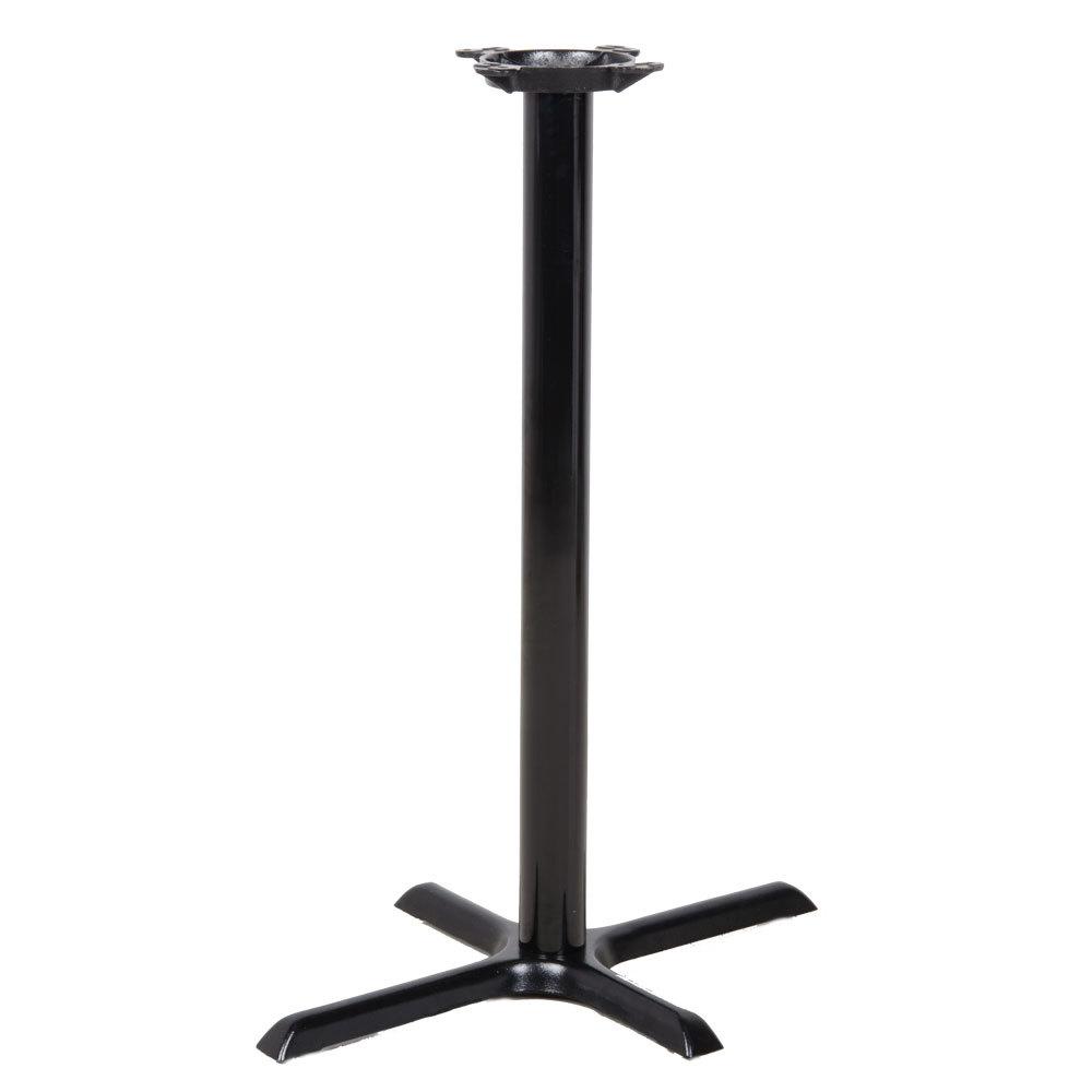 lancaster table seating 22 x 30 x 41 black metal table base bar height. Black Bedroom Furniture Sets. Home Design Ideas