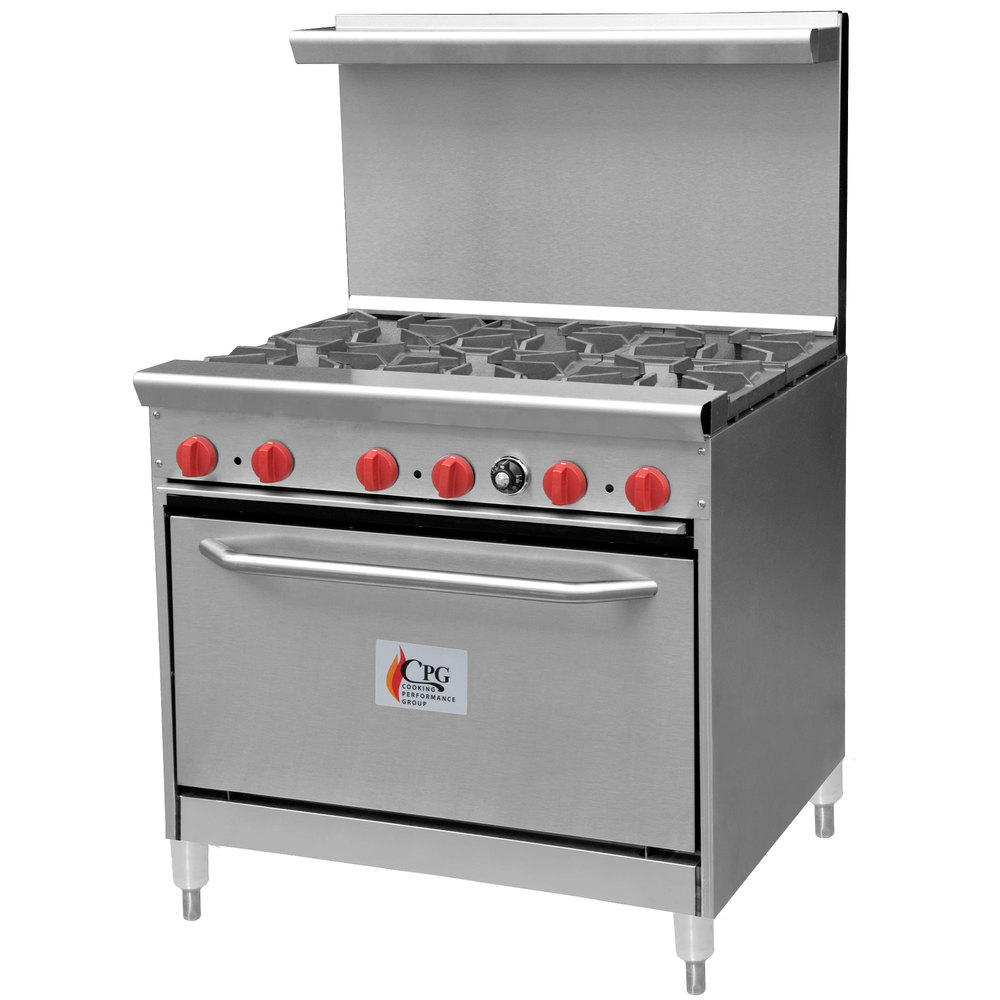 Cooking Performance Group 36 CPGV 6B S30 6 Burner 36 Gas