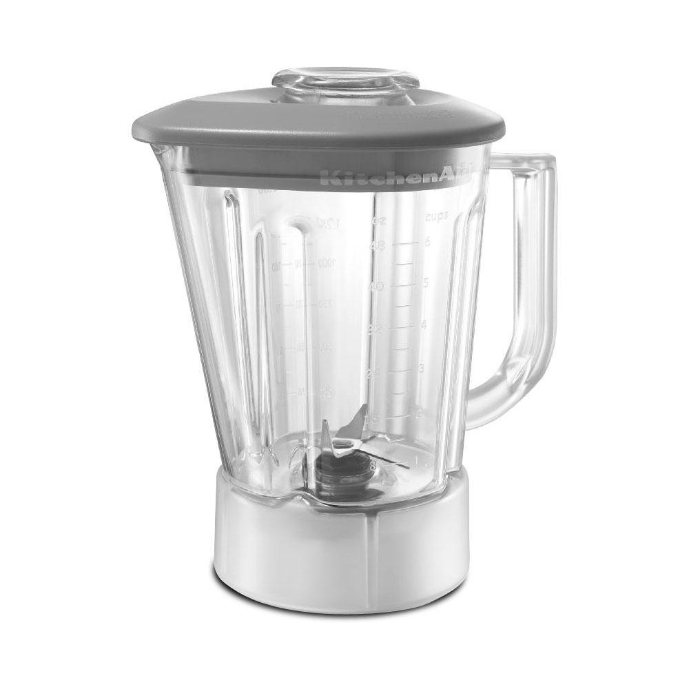 48 oz bpa free pitcher with grey lid for kitchenaid ksb465 blenders