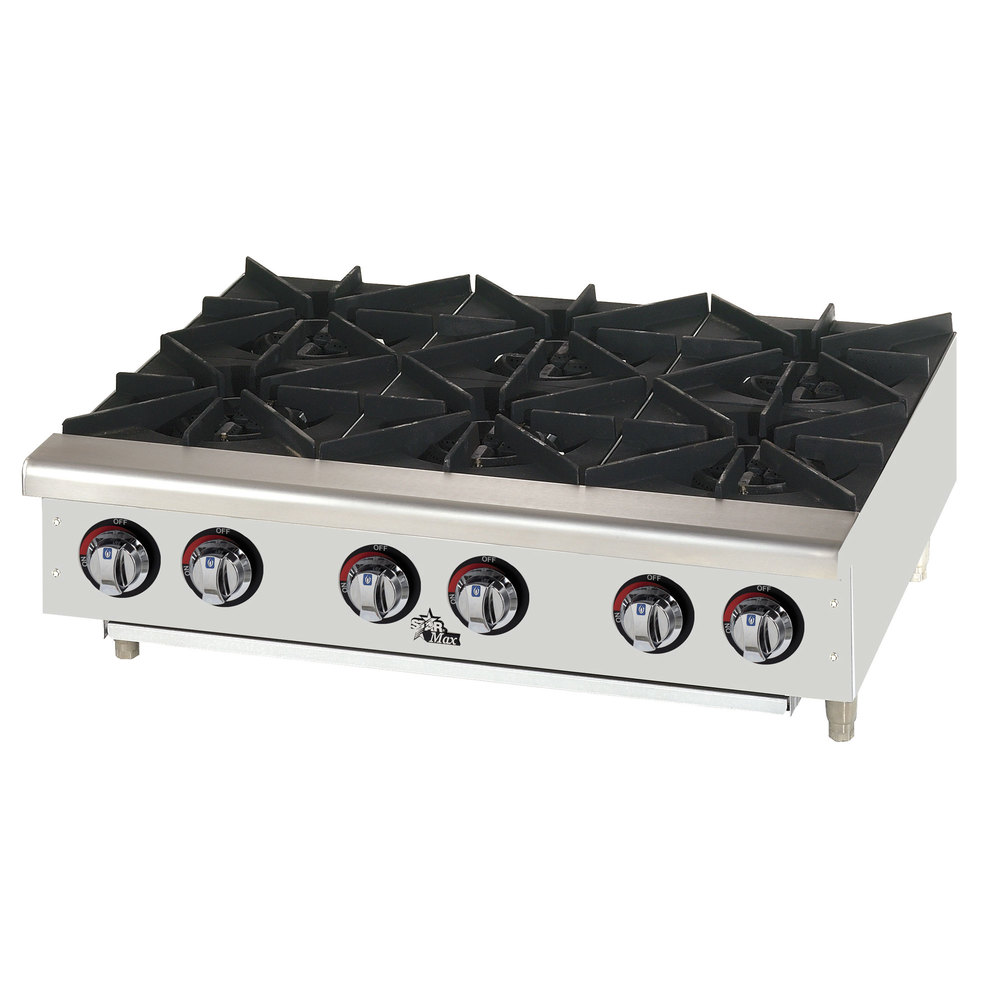 Countertop Stove Prices : Star Max 606HF 6 Burner Countertop Range / Hot Plate 150,000 BTU - 36
