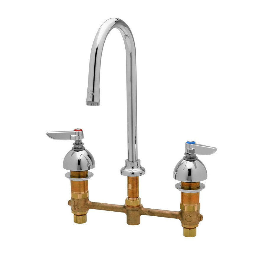 T S B 2850 Medical Lavatory Faucet With 8 Centers 10 11 16 High Rigid Gooseneck Nozzle With