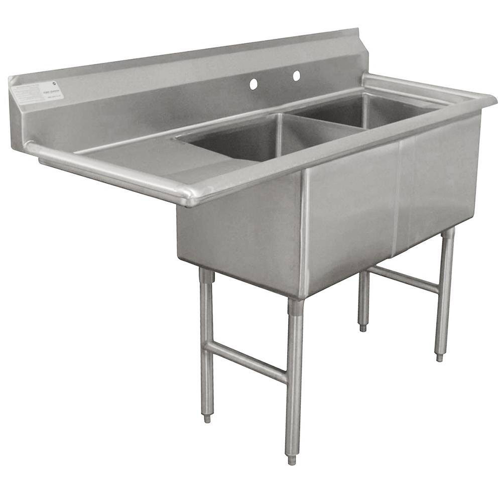 Stainless Industrial Sink : ... Stainless Steel Commercial Sink with One Drainboard - 56 1/2