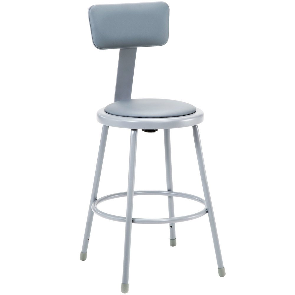 National Public Seating 6424b 24 Quot Gray Round Padded Lab