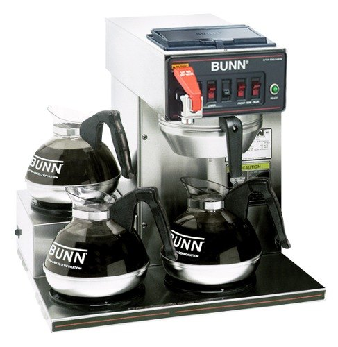 Bunn Coffee Maker No Plastic Parts : Bunn CWTF15 Automatic 12 Cup Coffee Brewer with 3 Left Lower Warmers - Black Plastic Funnel 120V ...