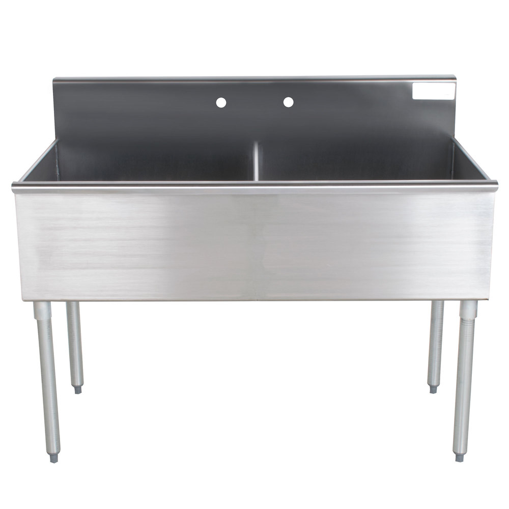 ... Tabco 4-42-48 Two Compartment Stainless Steel Commercial Sink - 48