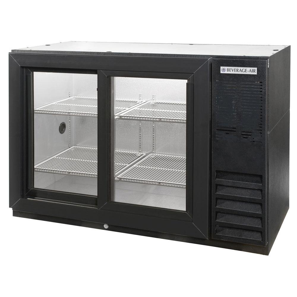 Beverage air bb48gsy 1 b led 48 black back bar for Sliding glass back door