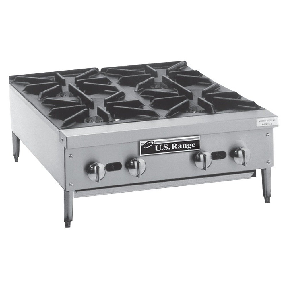 Countertop Stove Prices : Natural Gas Garland GTOG24-4 4 Burner Countertop Range