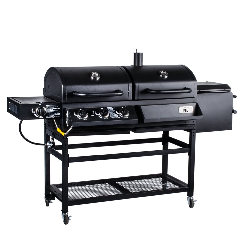 backyard pro portable outdoor gas and charcoal grill smoker knocked down. Black Bedroom Furniture Sets. Home Design Ideas