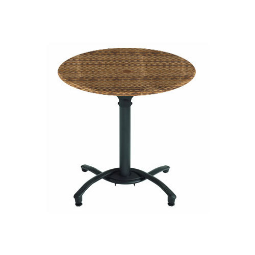 grosfillex 99831118 30 wicker round molded melamine outdoor table top. Black Bedroom Furniture Sets. Home Design Ideas