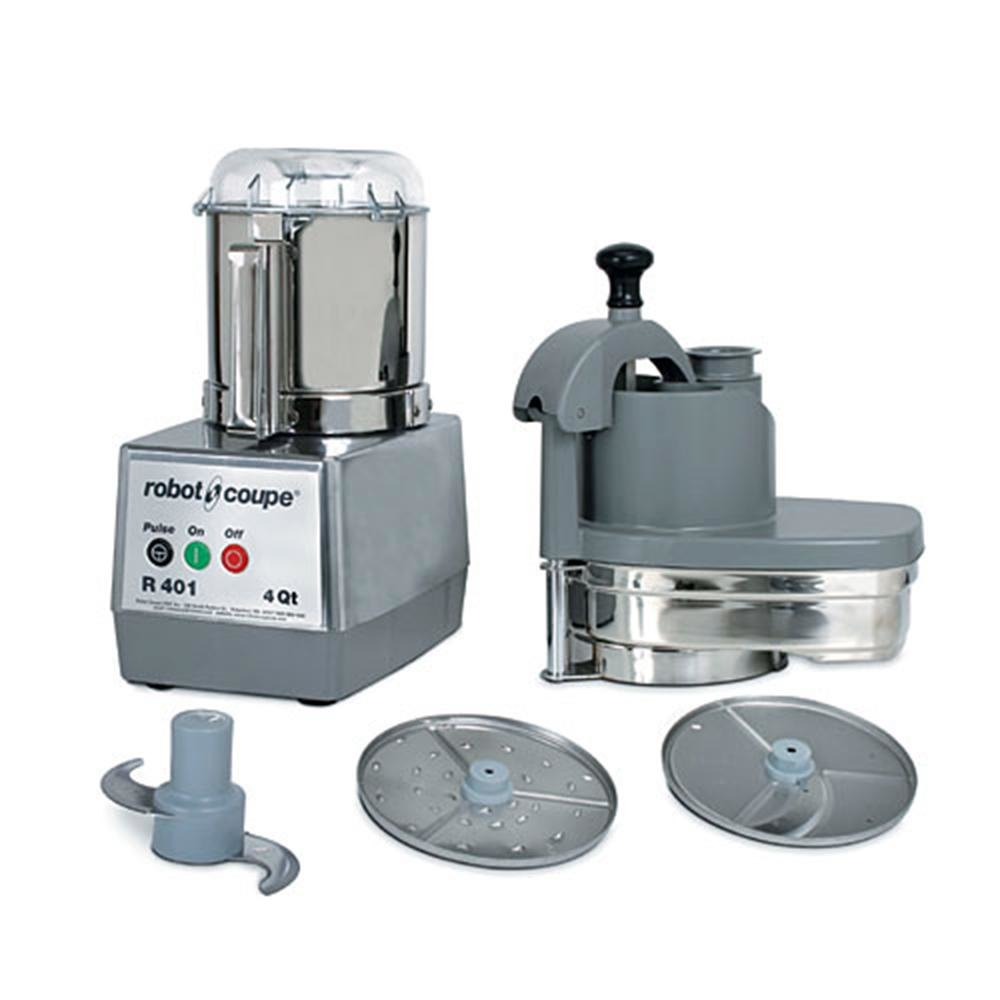 Robot coupe r401 combination continuous feed batch bowl food processor with - Robot soupe chauffant ...