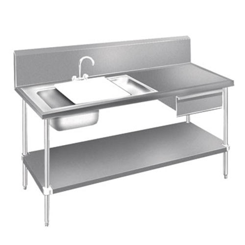 Advance Tabco DL-30-72 Stainless Steel Prep Table With