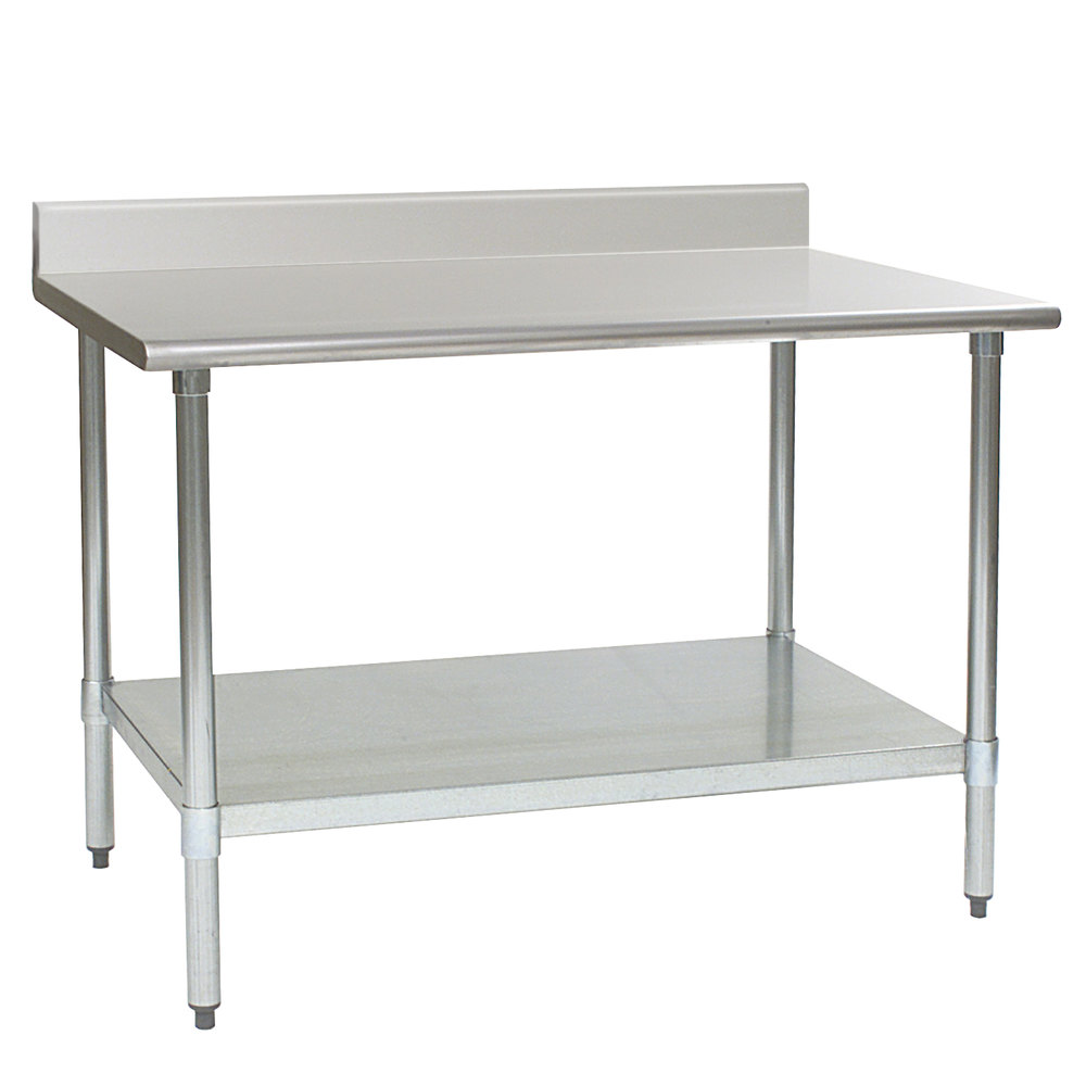 eagle group t2460b bs 24 x 60 stainless steel work table