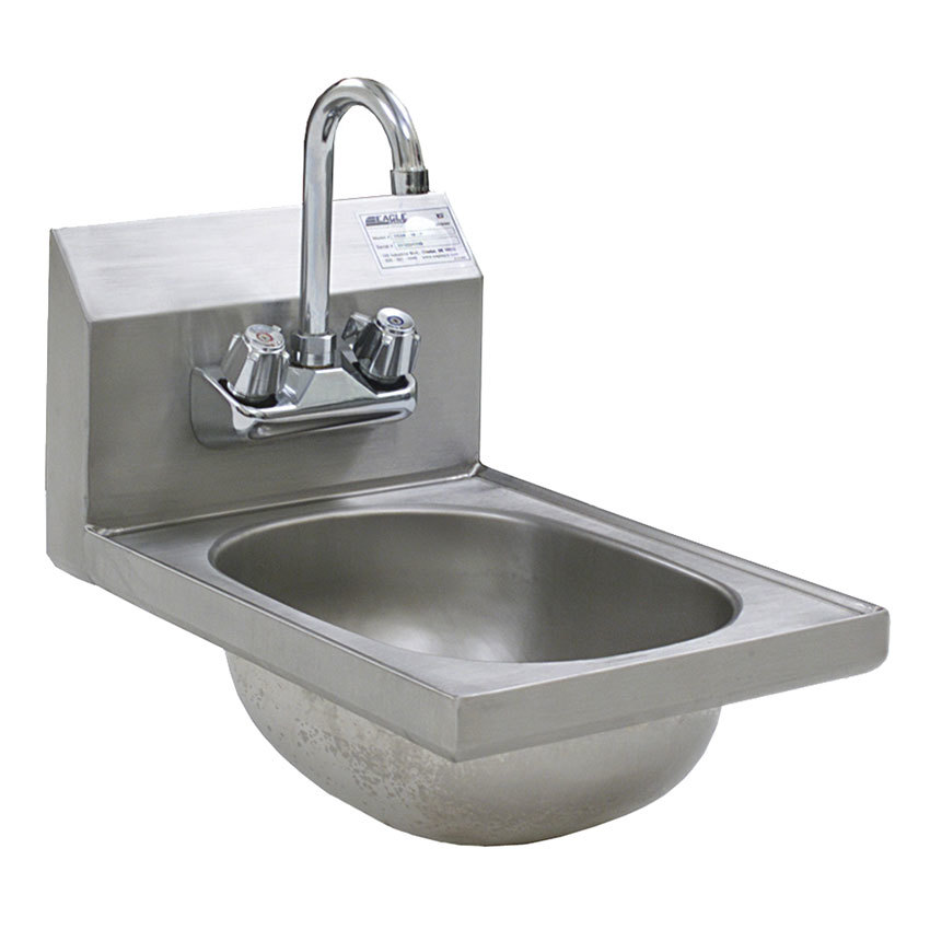 Eagle Group HSAN-10-F Space Saver Hand Sink with Splash Mount ...