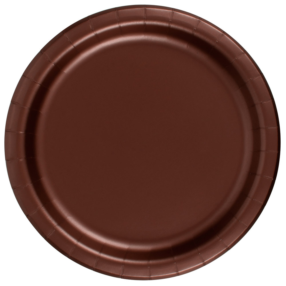 brown paper plates Shop for paper party plates from our huge range of solid colours, patterns or themes buy online with fast shipping throughout new zealand.