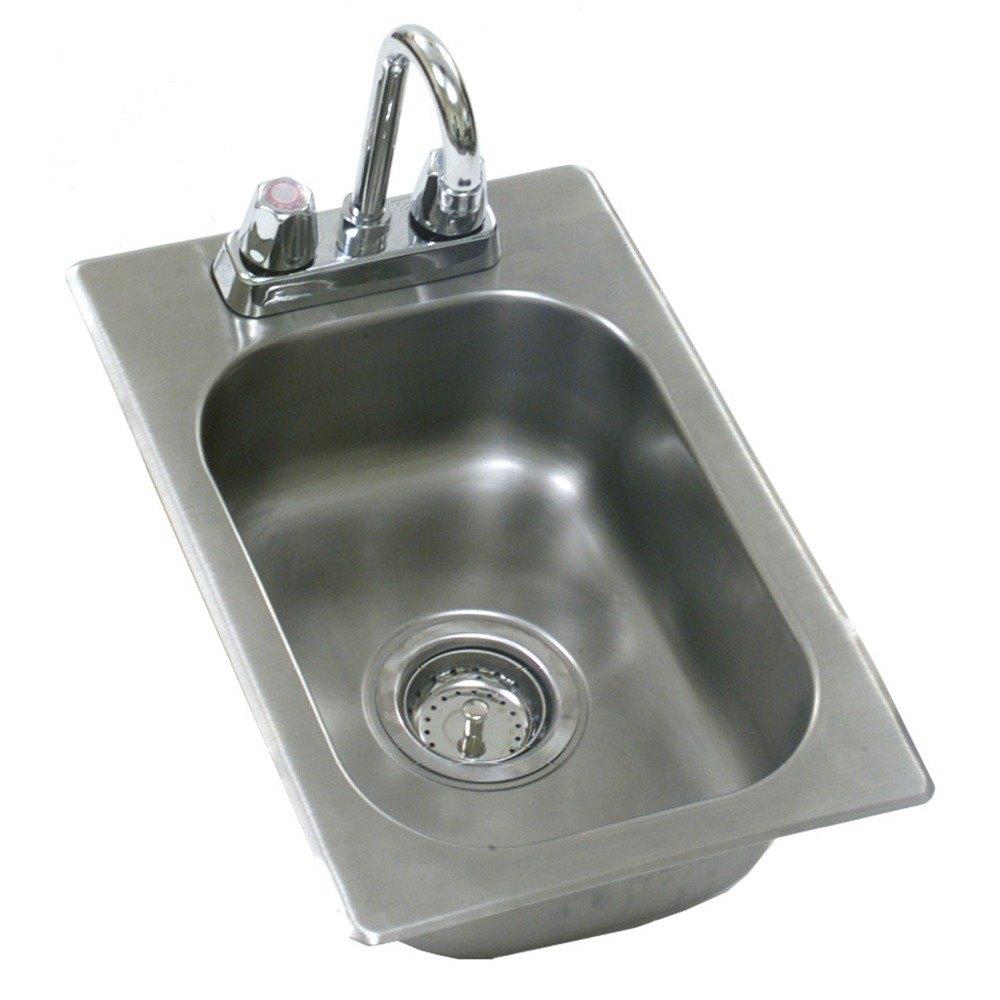 Bowl Sink Faucet : ... Sink with Deck Mount Faucet and Gooseneck Nozzle - 12
