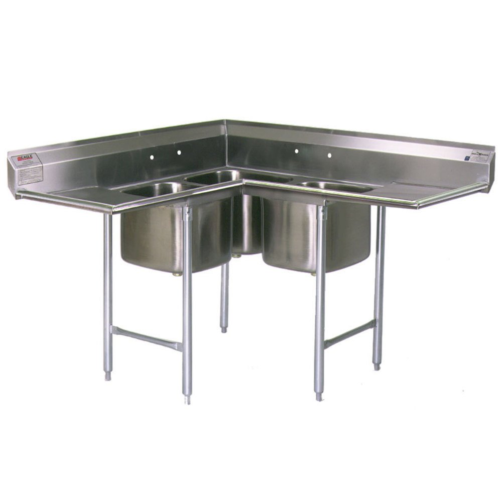 "Eagle Group C314 10 3 12 Three 10"" x 14"" Bowl Stainless Steel me"
