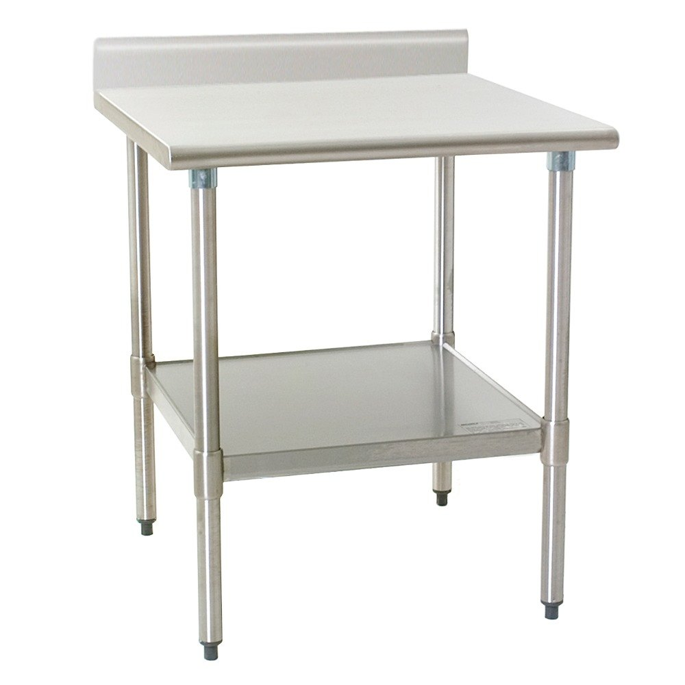 30 stainless steel work table with undershelf and 4 1 2 backs