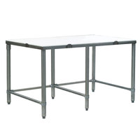 Eagle Group CT3096S 30 inch x 96 inch Poly Top Stainless Steel Cutting Table - Open Base