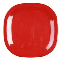 Passion Red Round Square Plate - 8 1/4 inch x 8 1/4 inch 12 / Pack