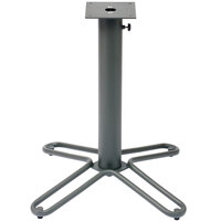 BFM Seating DVTB2828AU Fabia Standard Height Outdoor / Indoor Anthracite Steel Table Base with Umbrella Hole