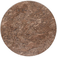 BFM Seating BB36R SoHo 36 inch Round Indoor / Outdoor Tabletop - Baltic Brown