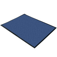 Cactus Mat 1470M-34 3' x 4' Blue Machine Washable Rubber-Backed Carpet Mat - 3/8 inch Thick
