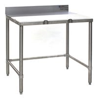 Eagle Group BT3036S 30 inch x 36 inch Poly Top Stainless Steel Boning Table - Open Base