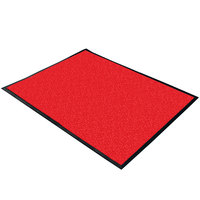 Cactus Mat 1470F-3 3' Wide Special Cut Red Machine Washable Rubber-Backed Carpet Mat - 3/8 inch Thick