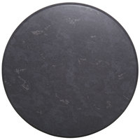 BFM Seating GS24R SoHo 24 inch Round Outdoor / Indoor Tabletop - Gray Slate