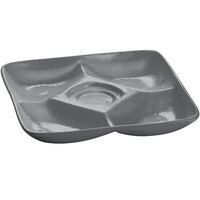 Tablecraft CW4200GR 11 inch x 11 inch Granite Cast Aluminum Appetizer Plate