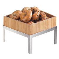 Cal-Mil 1477-12-60 Bamboo Deep Square Tray - 12 inch x 12 inch x 3 1/4 inch