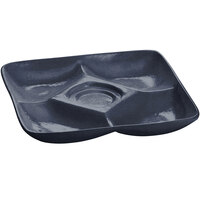 Tablecraft CW4200MBS 11 inch x 11 inch Midnight with Blue Speckle Cast Aluminum Appetizer Plate