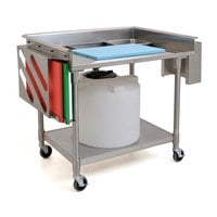 Eagle Group MPT3042 30 inch x 42 inch Stainless Steel Mobile Prep Table