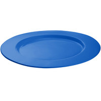 Tablecraft CW11004CBL16 inch Cobalt Blue Cast Aluminum Round Serving Plate
