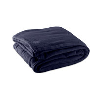 Fleece Hotel Blanket - 100% Polyester - Navy Blue Full 80 inch x 90 inch