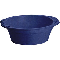 Tablecraft CW1420BS 3.5 Qt. Blue Speckle Cast Aluminum Small Oval Casserole Dish