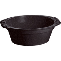 Tablecraft CW1420MIS 3.5 Qt. Midnight Speckle Cast Aluminum Small Oval Casserole Dish