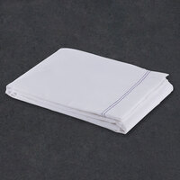 Flat Hotel Sheet - 200 Thread Count Cotton / Poly - White Full 81 inch x 108 inch - 12 / Case